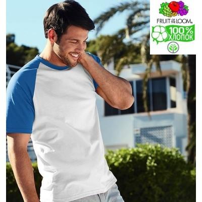 Мужская футболка двухцветная Fruit of the loom