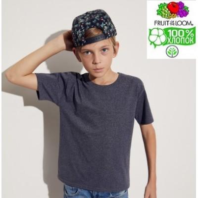 Детская футболка для мальчиков классическая Fruit of the loom