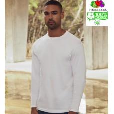 Мужская футболка с длинным рукавом однотонная