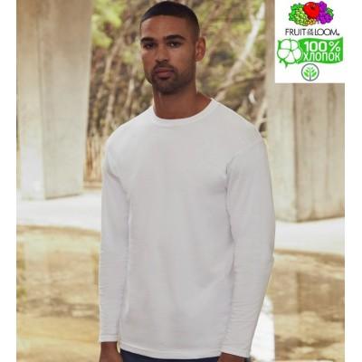 Мужская футболка с длинным рукавом плотная