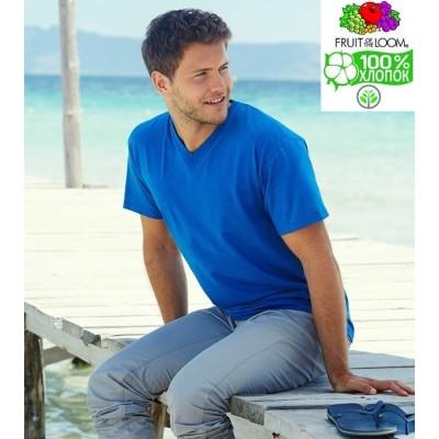 Мужская футболка с v-образным вырезом Fruit of the loom