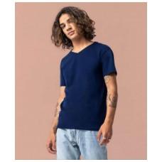 Мужская футболка с V-образным вырезом хлопок