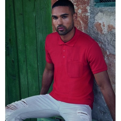 Мужская футболка поло с карманом