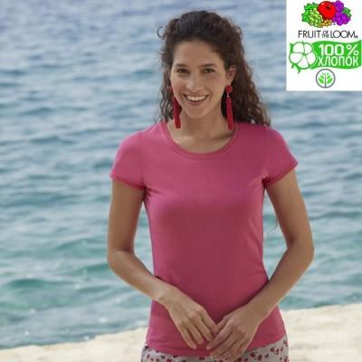 Женская футболка однотонная