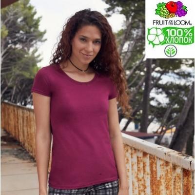 Женская футболка плотная Fruit of the loom