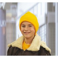 Детские вязанные шапки с отворотом