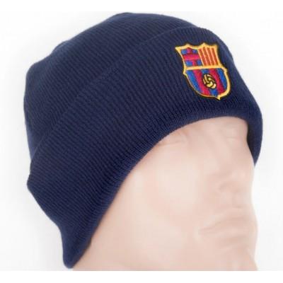 Шапка Барселона двойная темно синяя