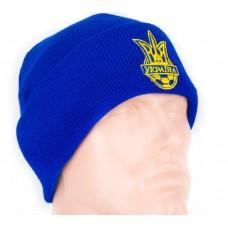 Шапка Украина двойная синяя
